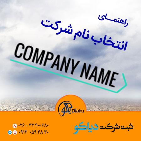 انتخاب نام شرکت